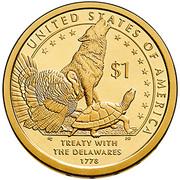 1 Dollar (Traité avec les Delawares) -  revers