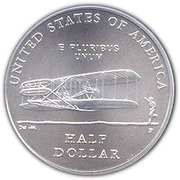 ½ dollar (First Flight Centennial) -  revers