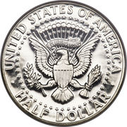 "½  dollar ""Kennedy Half Dollar"" (argent 400‰) -  revers"