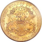 "20 dollars ""Liberty Head - Double Eagle"" (avec devise) -  avers"