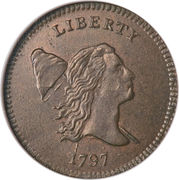 "½ Cent / 1/200 Dollar ""Liberty Cap - Half Cent"" – avers"