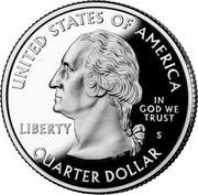 """¼ Dollar """"Quarter Mount Rushmore"""" (argent) -  avers"""