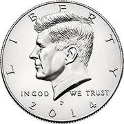 ½ Dollar (50th Anniversary of Kennedy Half Dollar) -  avers