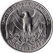 """¼ Dollar """"Washington Quarter"""" (cupronickel) -  revers"""