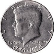 "½  dollar ""Kennedy Bicentenial Half Dollar"" (cupronickel) -  avers"