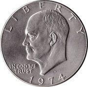 "1 dollar ""Eisenhower Dollar"" (cupronickel) -  avers"