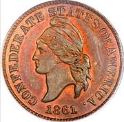 1 cent - États confédérés d'Amérique (Cuivre) – avers