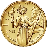 "100 Dollars (""American Gold Eagle"") – avers"