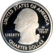 ¼ Dollar ''Washington Quarter'' (Saratoga National Historic Park - Silver Proof) -  avers