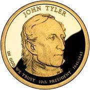 1 Dollar (John Tyler) -  avers