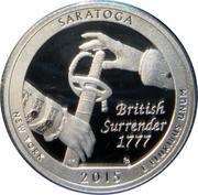 ¼ Dollar ''Washington Quarter'' (Saratoga National Historic Park - Silver Proof) -  revers