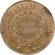 "1 cent ""1792 Birch Cent"" (Essai) – revers"