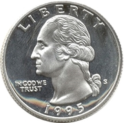 "¼ Dollar ""Washington Quarter"" (Silver Proof Issue) -  avers"