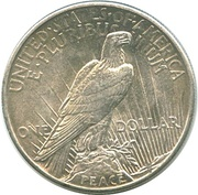 "1 dollar ""Peace Dollar"" -  revers"