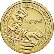 1 Dollar (Sequoyah) -  revers