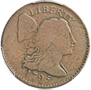 "1 Cent ""1795 Liberty Cap"" (Pattern) – avers"