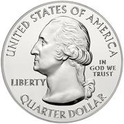 "¼ Dollar ""Washington Quarter"" (Fort Moultrie at Fort Sumter National Monument -  Silver 5oz. Bullion) -  avers"