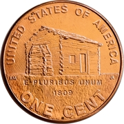 """1 cent """"Lincoln Penny"""" (Early Childhood) – revers"""