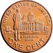 1 cent Lincoln - Professional Life -  revers