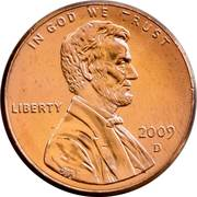 1 cent Lincoln - Presidency in Washington, D.C. -  avers