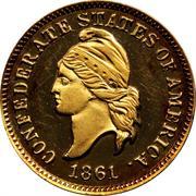 1 Cent (Haseltine Restrike, Gold) – avers
