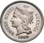 """1 cent """"1869"""" (Essai) – avers"""