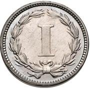"""1 cent """"1869"""" (Essai) – revers"""