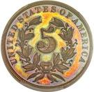"5 Cents ""Shield Nickel"" (Pattern) – revers"