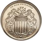 "5 Cents ""Shield Nickel"" (Pattern) – avers"