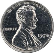 """1 cent """"1974 Lincoln Memorial"""" (Essai) – avers"""