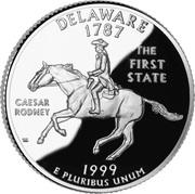 """¼ Dollar """"Quarter Delaware"""" (argent) -  revers"""