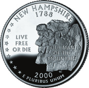 "¼ Dollar ""Quarter New Hampshire"" (argent) -  revers"