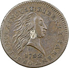 """1 cent """"1792 With and without Silver Center"""" – avers"""
