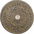 """1 cent """"1792 With and without Silver Center"""" – revers"""