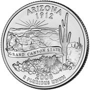 """¼ Dollar """"Quarter Arizona"""" (cupronickel) -  revers"""