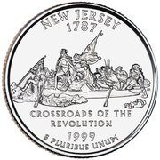 "¼ Dollar ""Quarter New Jersey"" (cupronickel) -  revers"
