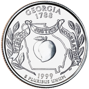 "¼ Dollar ""Quarter Georgia"" (cupronickel) -  revers"