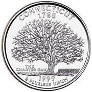"""¼ Dollar """"Quarter Connecticut"""" (cupronickel) -  revers"""