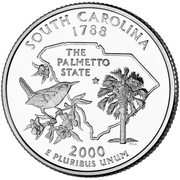 "¼ Dollar ""Quarter Caroline du Sud"" (cupronickel) -  revers"