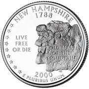 "¼ Dollar ""Quarter New Hampshire"" (cupronickel) -  revers"