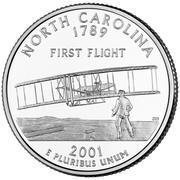 "¼ Dollar ""Quarter Caroline de Nord"" (cupronickel) -  revers"