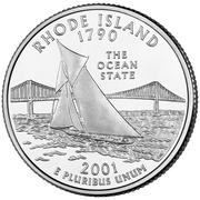 "¼ Dollar ""Quarter Rhode Island"" (cupronickel) -  revers"