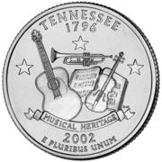 "¼ Dollar ""Quarter Tennessee"" (cupronickel) -  avers"