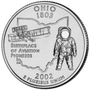 """¼ Dollar """"Quarter Ohio"""" (cupronickel) -  revers"""