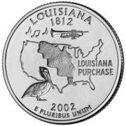 """¼ Dollar """"Quarter Louisiane"""" (cupronickel) -  revers"""