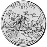"¼ Dollar ""Quarter Mississippi"" (cupronickel) -  revers"