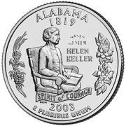 "¼ Dollar ""Quarter Alabama"" (cupronickel) -  revers"