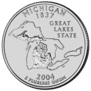 "¼ Dollar ""Quarter Michigan"" (cupronickel) -  revers"