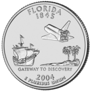 "¼ Dollar ""Quarter Floride"" (cupronickel) -  revers"