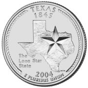 "¼ Dollar ""Quarter Texas"" (cupronickel) -  revers"